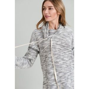 Rosie Drawstring Cowl-neck Sweater